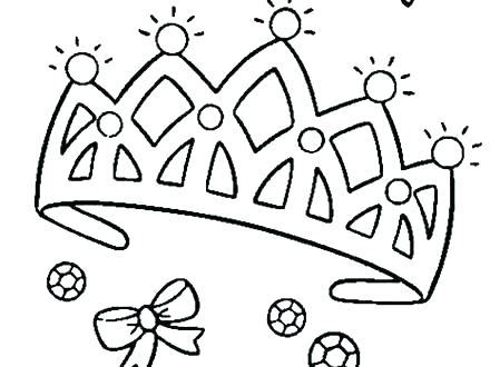 440x330 Princess Crown Coloring Page Princess Crown Coloring Pages Amazing