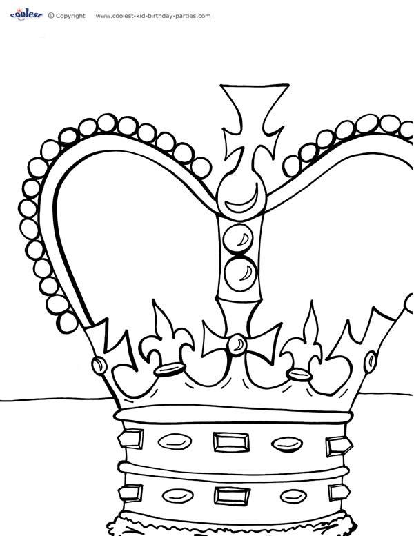 600x777 Printable Crown Coloring Page