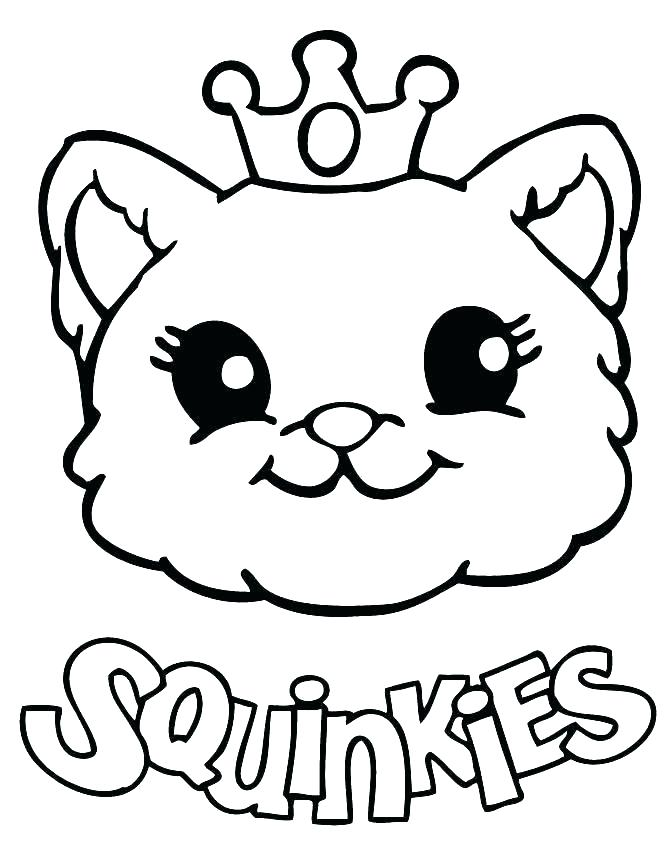 670x848 Cat With Tiara Coloring Page