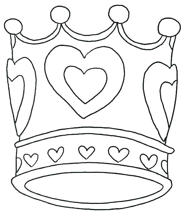 600x691 Free Printable Princess Crown Coloring Pages Icontent