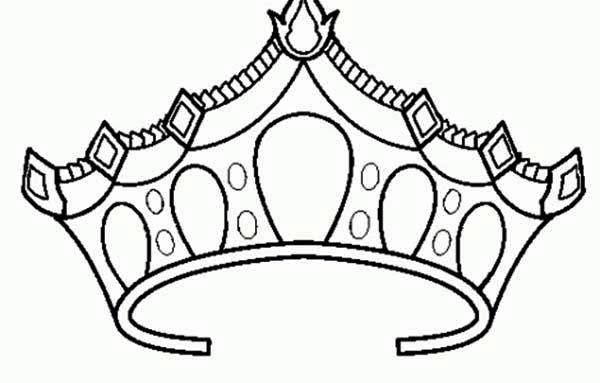 600x383 Coloring Crowns Drawing Of Princess Crown Coloring Page Netart
