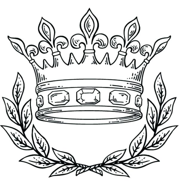 600x638 Crown Coloring Page Crown King Queen Coloring Page Princess Crown