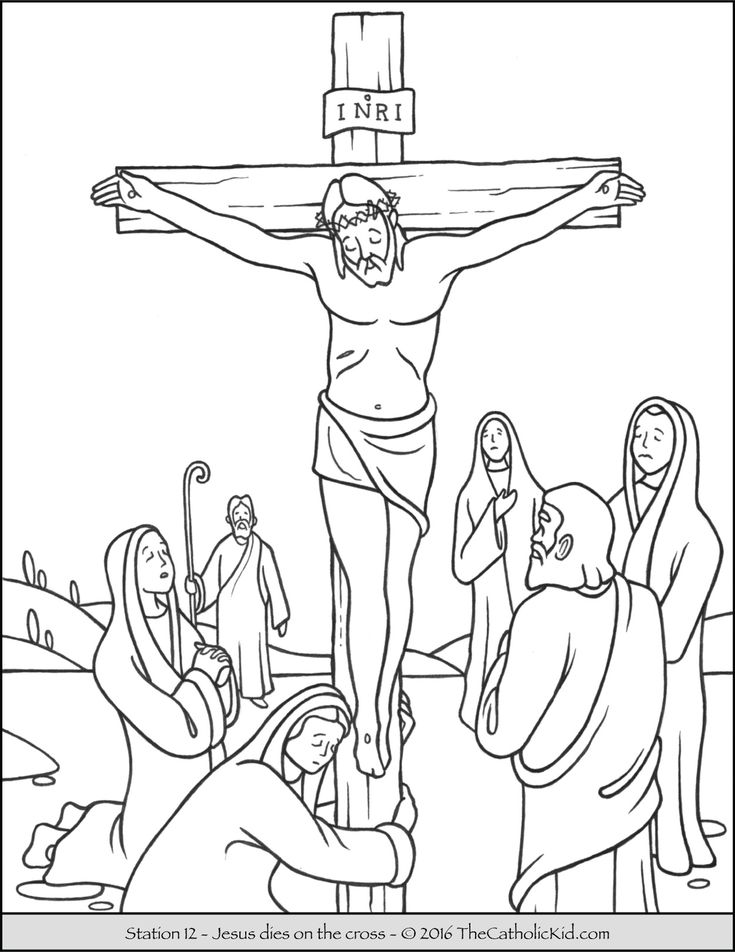 Crucifix Coloring Page