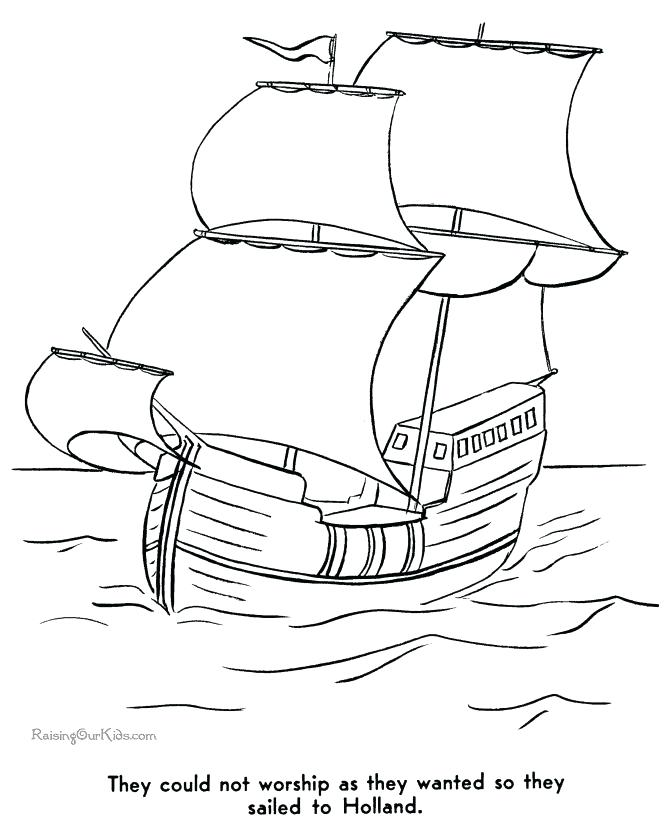670x820 Extraordinary Ships Coloring Pages Pilgrim History Coloring Pages