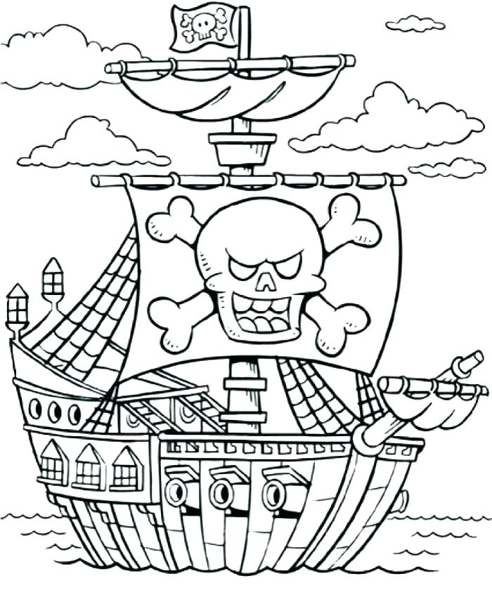700x840 Pirate Ship Coloring Page Big Pirate Ship Coloring Pages To Sweet
