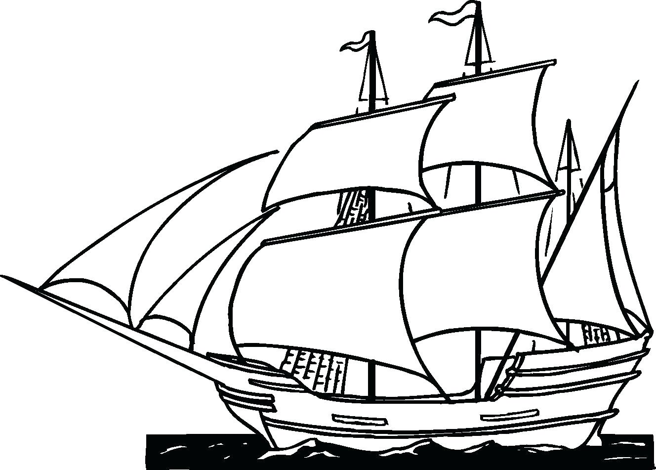1328x951 Cruise Ship Coloring Page