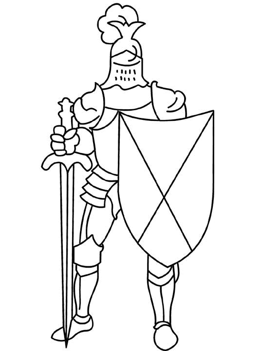 540x720 Knight Coloring Pages Educational Coloring Pages