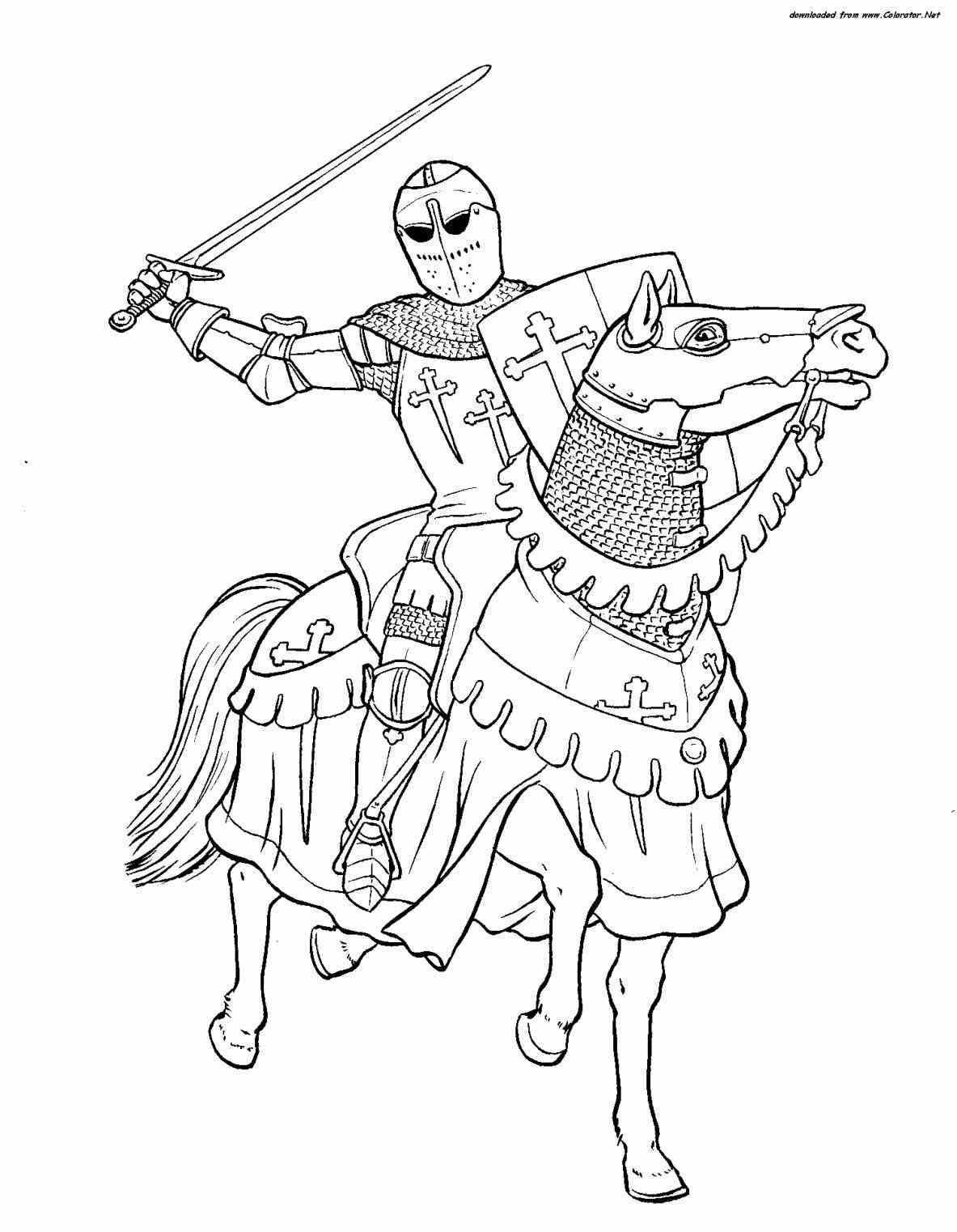 1183x1522 Knights Coloring Pages Free With Knight