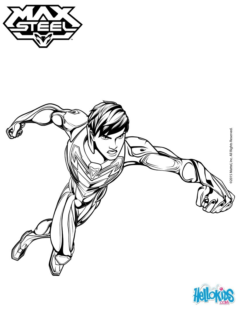 820x1060 Max Steel Without His Helmet Coloring Pages