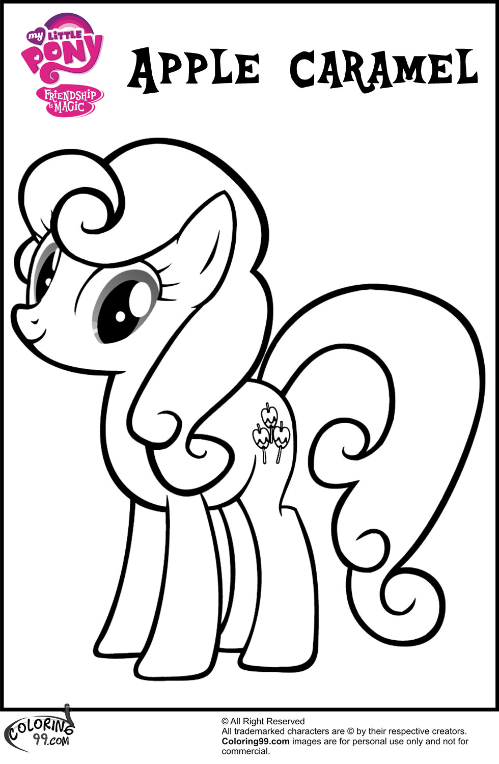980x1500 My Little Pony Apple Bloom Coloring Pages