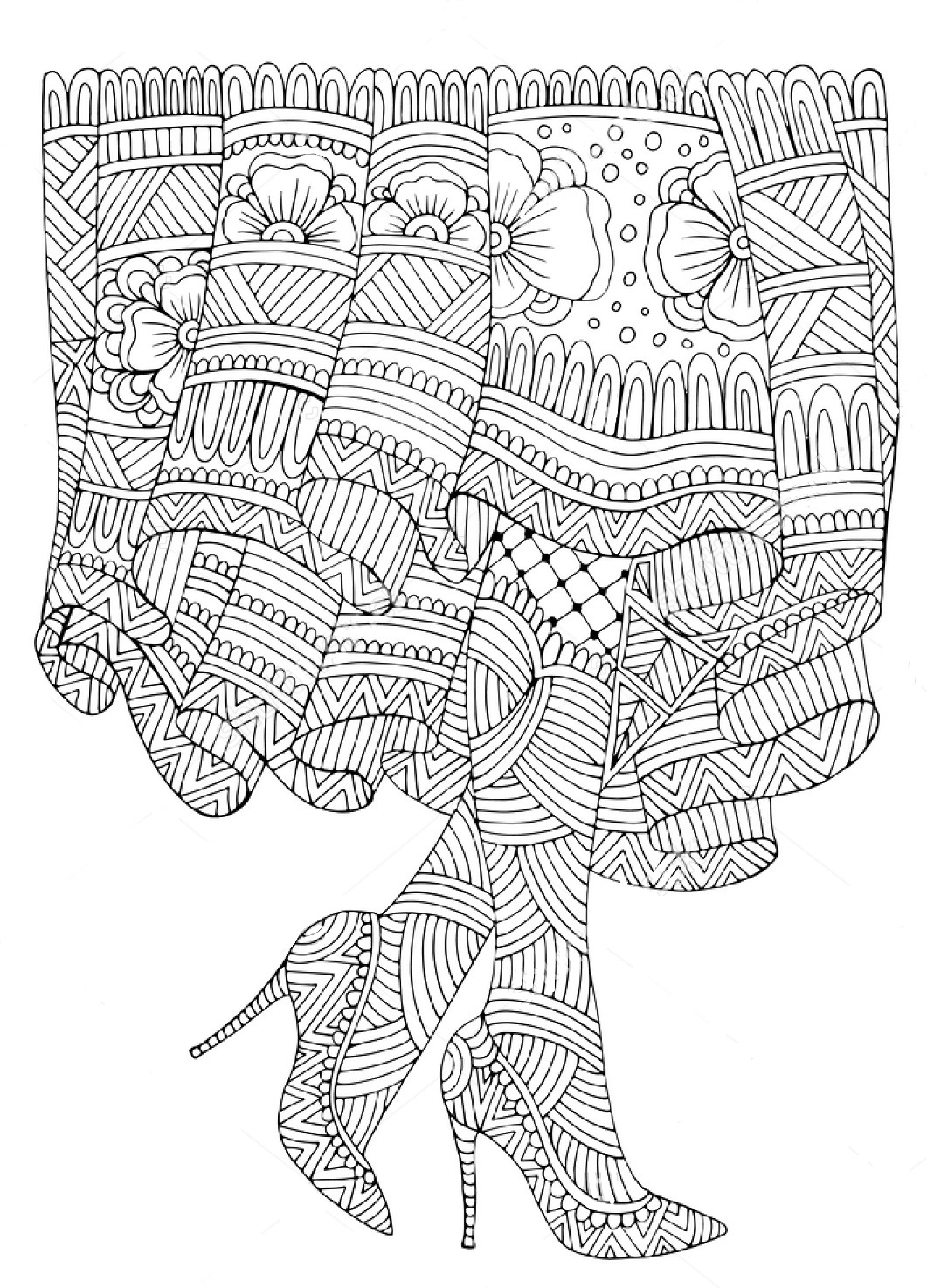 1061x1475 Zentangle Coloring Pages Tree Download Coloring For Kids