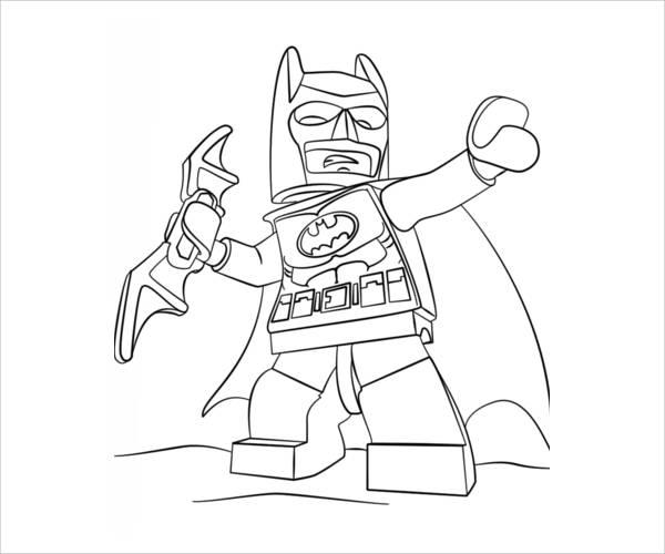 600x500 Batman Coloring Pages
