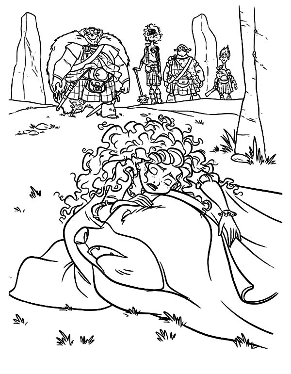600x771 Princess Merida Crying Over Her Mother Coloring Pages Color Luna