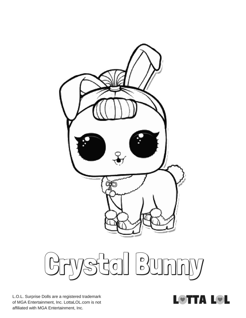 816x1056 Crystal Bunny Lol Surprise Doll Coloring Page Lotta Lol