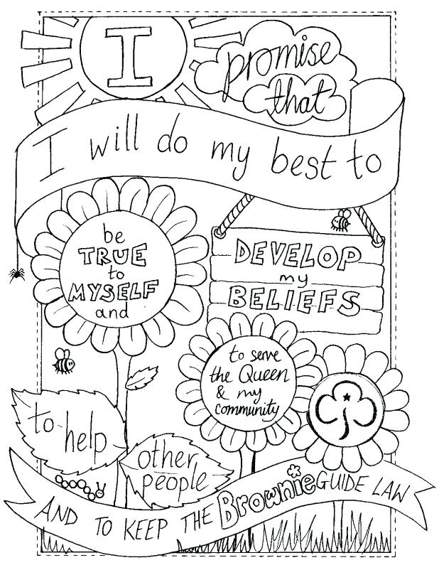 618x795 Cub Scout Coloring Pages Brownie Promise Colouring Sheet Created