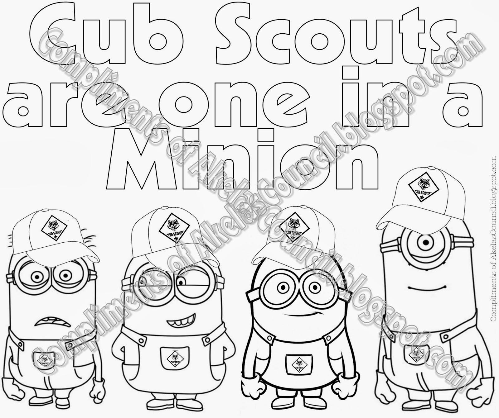 1600x1342 Akela's Council Cub Scout Leader Training Cub Scout Minions