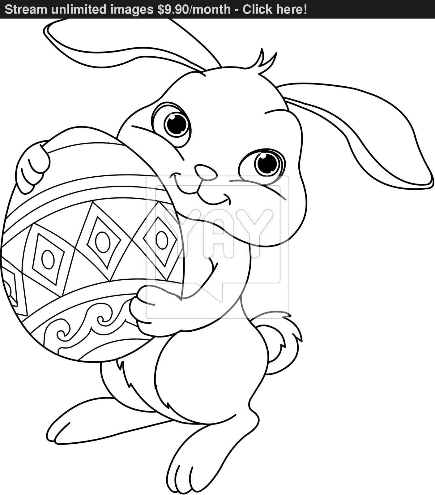 1407x1600 Coloring Easter Bunny Page Inside Pages To Print