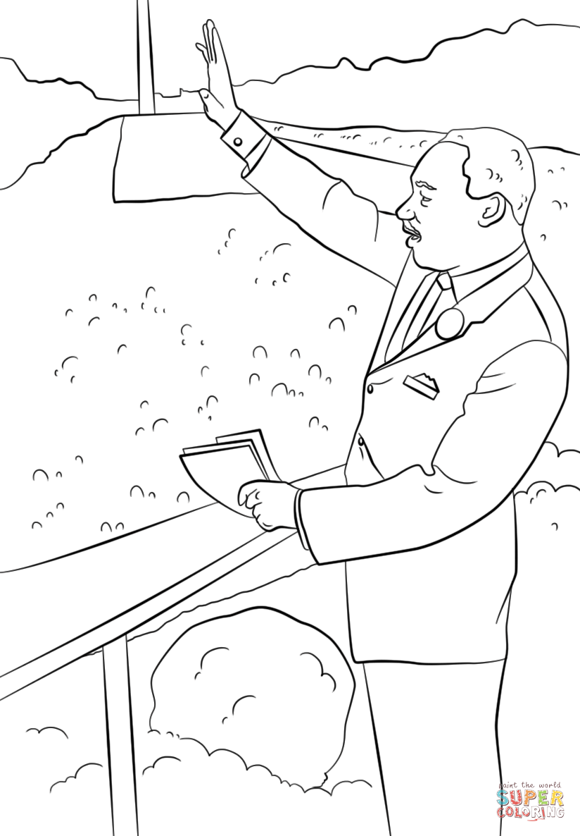 824x1186 I Have A Dream Coloring Pages