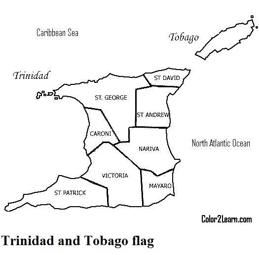 525x517 Trinidad And Tobago Flag Coloring Pages