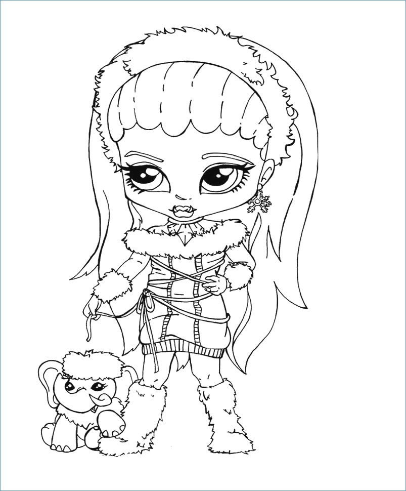 803x970 Abbey Monster High Coloring Pages