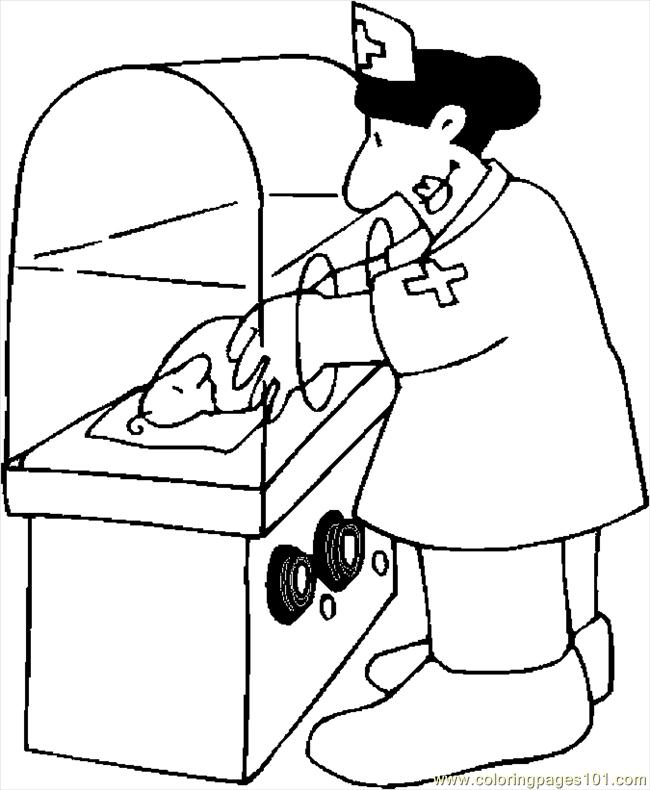 650x790 Baby In Incubator Coloring Page