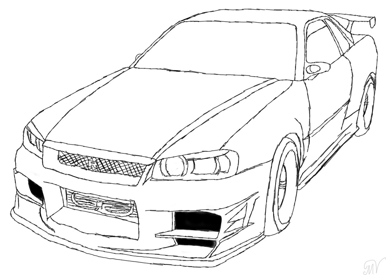 1280x913 Gtr Coloring Page