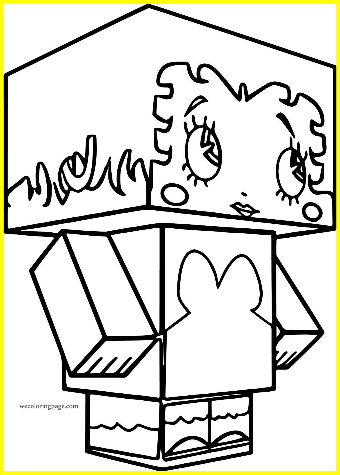 1173x1635 Minecraft Horse Coloring Page