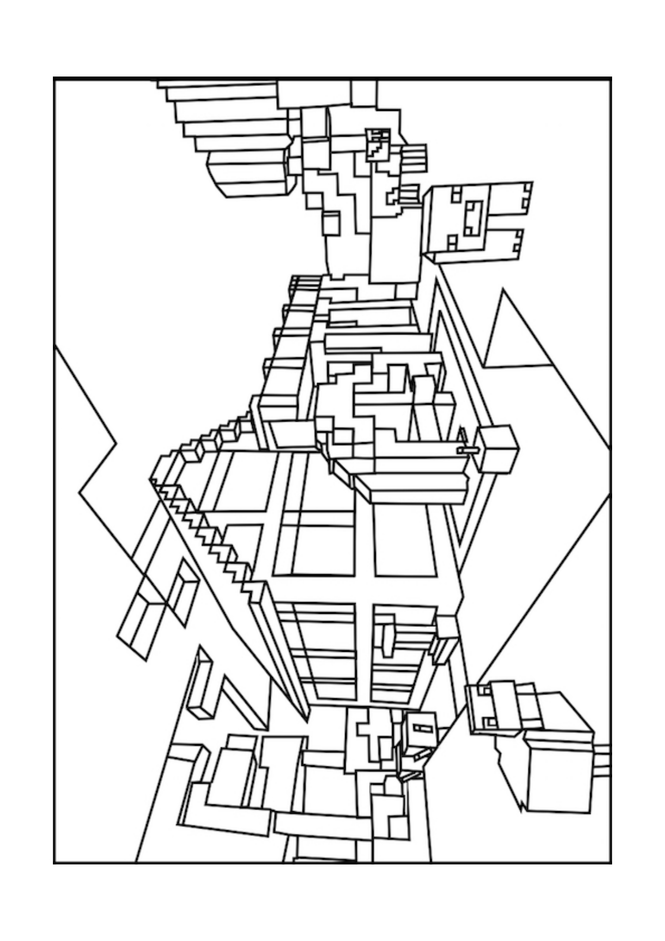 1295x1832 Simple Minecraft Coloring Luxury From Minecraft Coloring Page