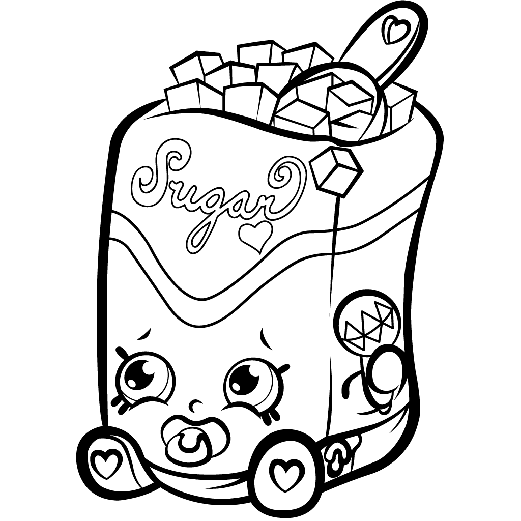 1024x1024 Sugar Cube Free Coloring Page Kids, Shopkins Coloring Pages