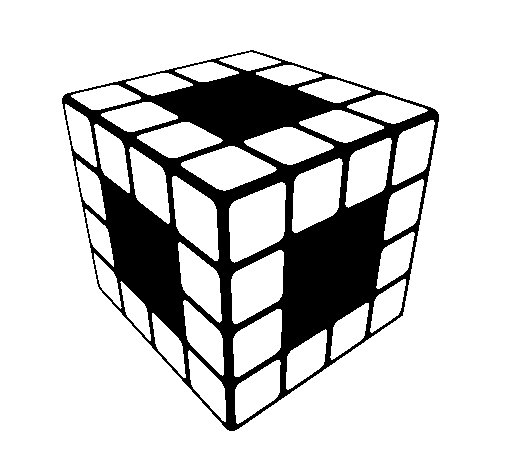 505x470 Rubik's Cube Coloring Page Rubiks Cube Coloring Page Coloringcrew