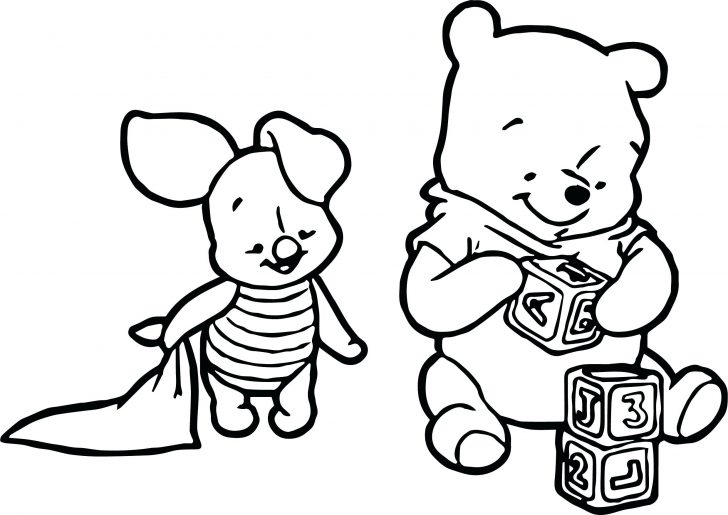 728x515 Coloring Pages For Kids Pdf Baby Piglet The Pooh Play Cube Page