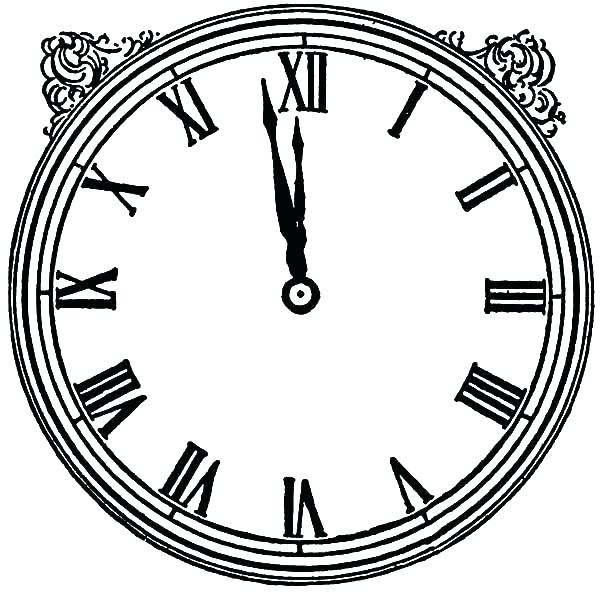 600x594 Clock Coloring Page Clock Image Coloring Pages Cuckoo Clock