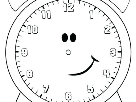 440x330 Clock Coloring Page Coloring Page Clock Cuckoo Clock Coloring Page