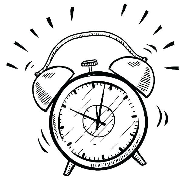 600x596 Clock Coloring Page Cuckoo Clock Coloring Page Setting Alarm Clock