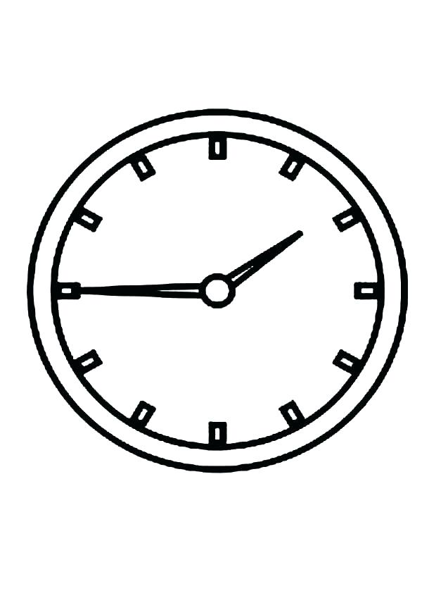 600x849 Clock Coloring Page Digital Alarm Clock Coloring Pages Cuckoo