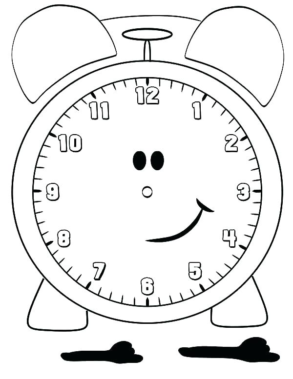 600x777 Clock Coloring Page Pendulum Clock Coloring Pages Wall Clock