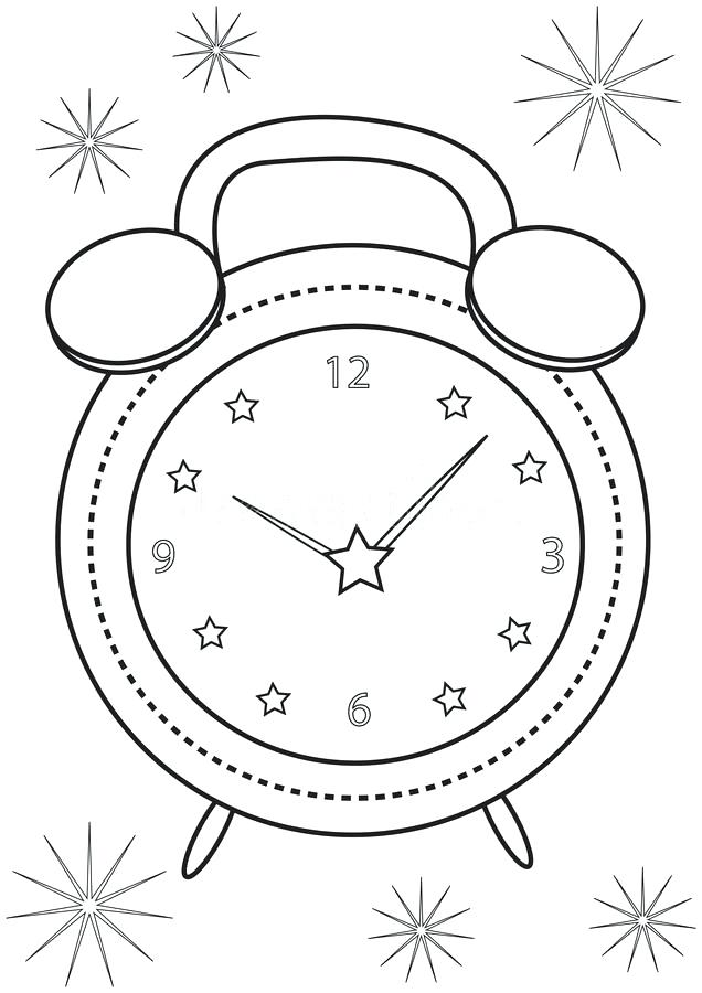 636x900 Clock Coloring Page Retro Style Grandfather Clock Coloring Pages