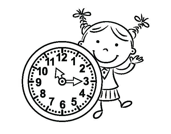 600x470 Clock Coloring Pages Alarm Clock Sound Of Alarm Clock Coloring