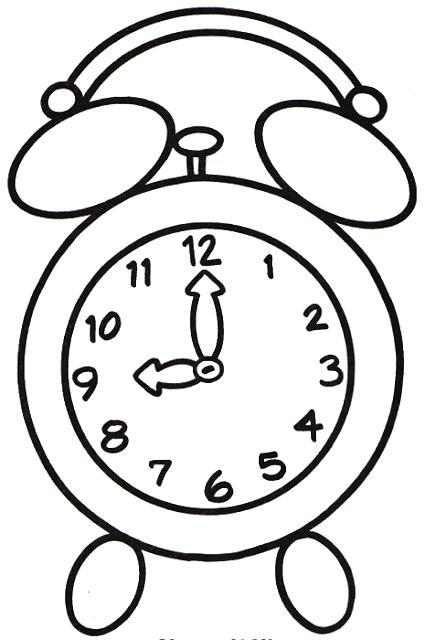 425x640 Cuckoo Clock Coloring Page Clock Coloring Page Clock Had Of Legs