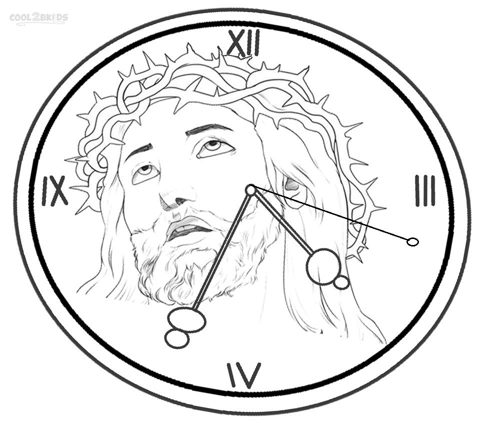 966x850 Printable Clock Coloring Pages For Kids