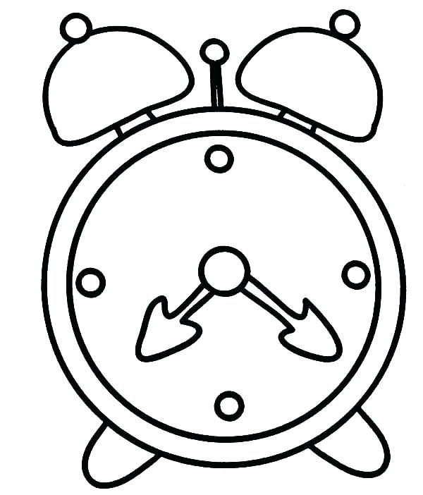 600x702 Clock Coloring Page