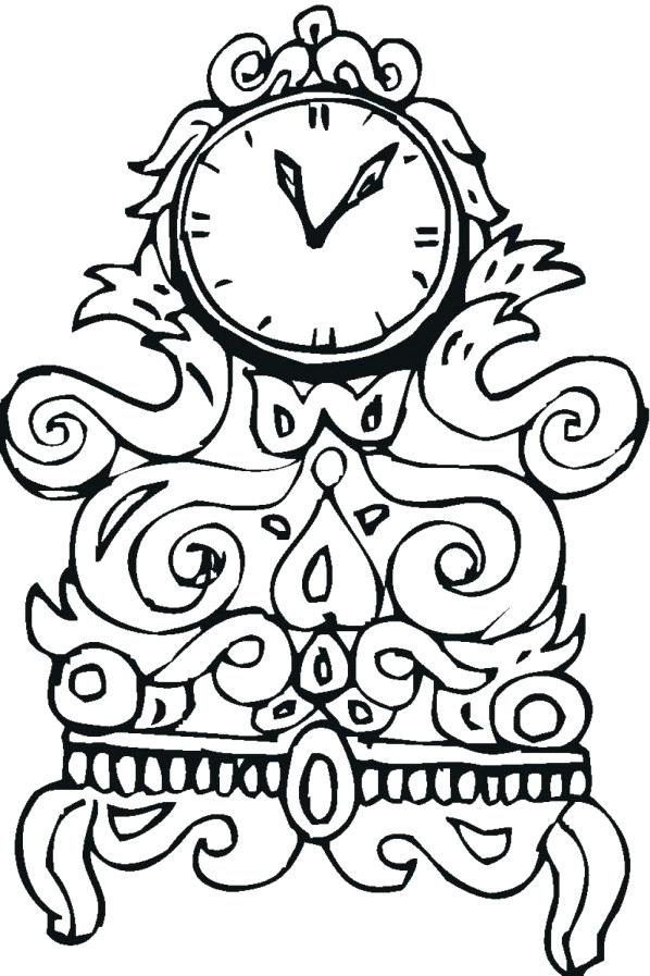 598x897 Clock Coloring Page Alarm Clock Point To O Coloring Pages Sky