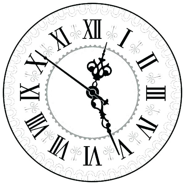 600x600 Clock Coloring Page Analog Clock What Time Is It Coloring Pages