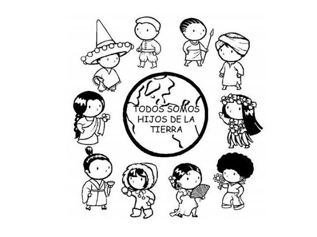 640x480 Diversity And Culture Coloring Page Kiddo Crafts