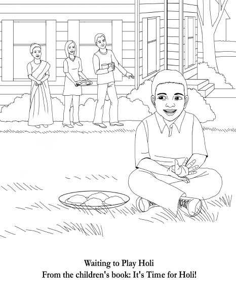 466x602 Free Holi Coloring Pages From The Children's Book It's Time