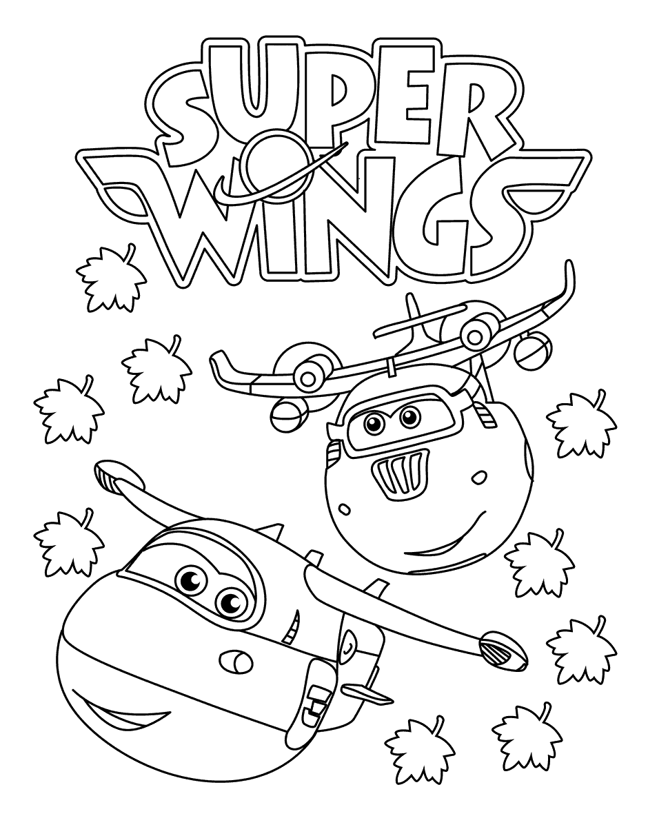 940x1200 Free Printable Super Wings Coloring Pages