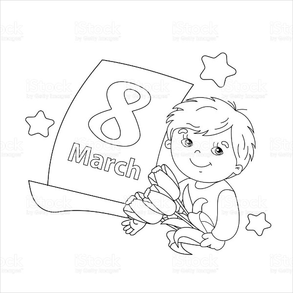 600x600 Women's Day Coloring Pages Free Premium Templates