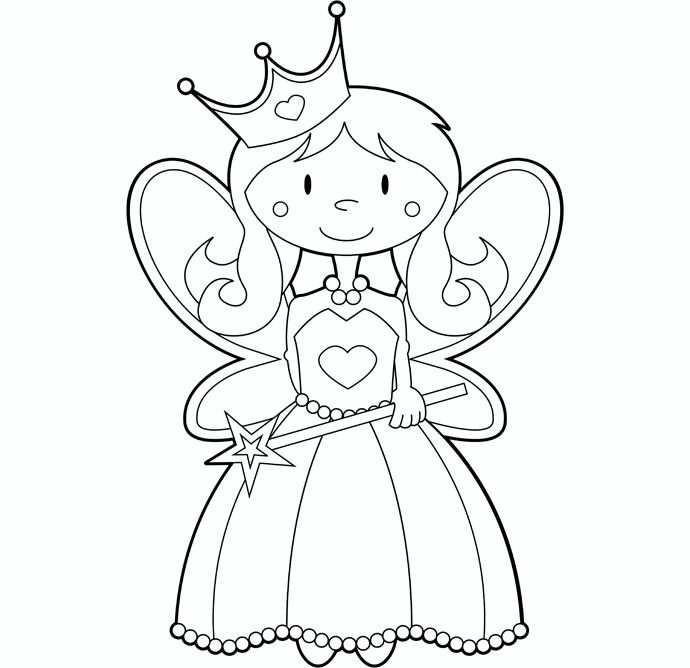 690x668 Tooth Fairy Coloring Page
