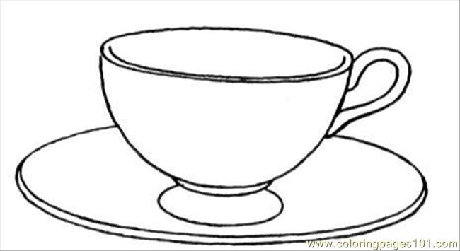650x355 Tea Cup Coloring Page Images Free Coloring Pages