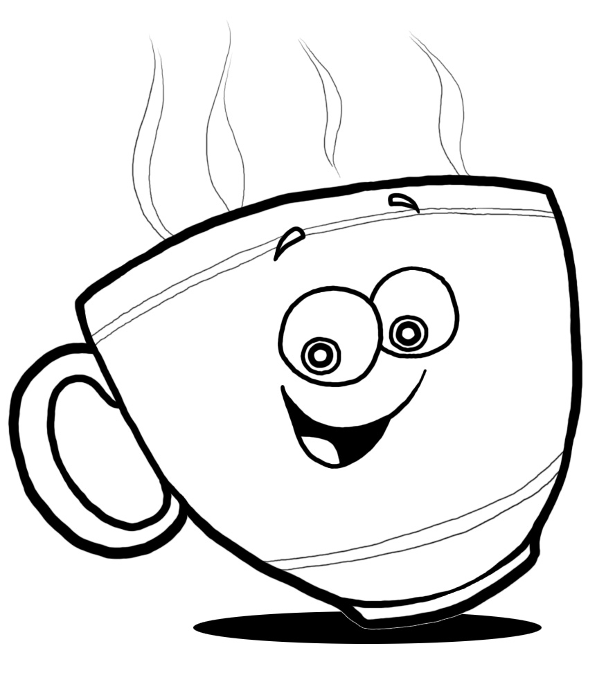 862x985 Cup Coloring Pages